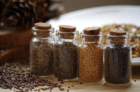 hạt tiêu, nấu ăn, mù tạt, trắng, màu đen, thì là Ai Cập, La Mã cumin