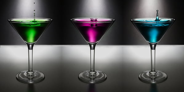 martini, drop, water, colo, drink, alcohol, glass