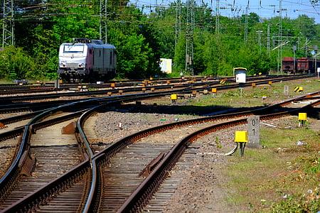 gleise, seemed, train, railway, railroad tracks, rail traffic, railway tracks