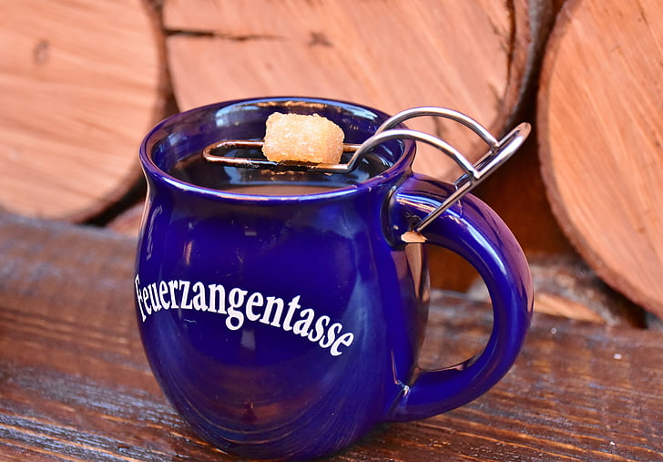 mulled wine, christmas market, feuerzangenbowle, drink, hot drink, alcoholic, wine