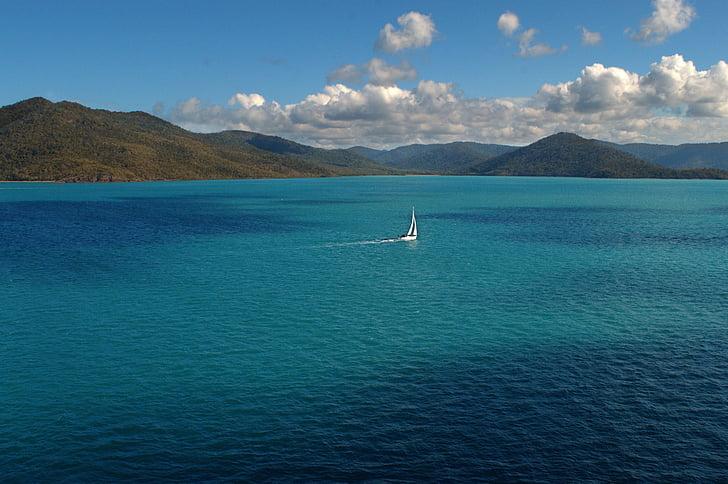 segelbåt, Stora barriärrevet, Ocean