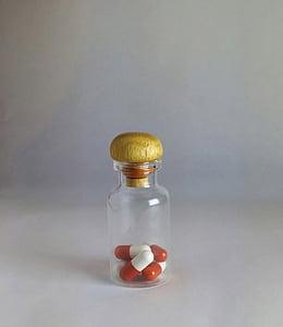 vial, píndoles, pillbottle, Medicina, drogues, indústria farmacèutica, medicació