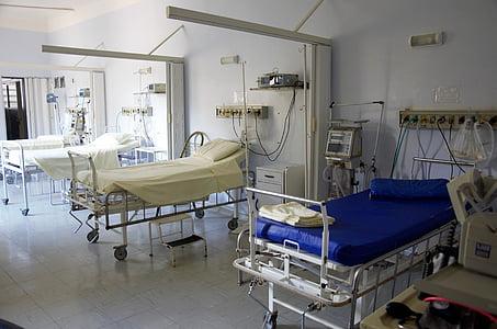 Krankenhaus, Bett, Arzt, Chirurgie, Gesundheitswesen und Medizin, Klinik, Krankenhaus Ward
