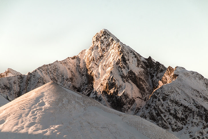 muntanya, Alba, natura, l'hivern, neu, cim de la muntanya, Suïssa