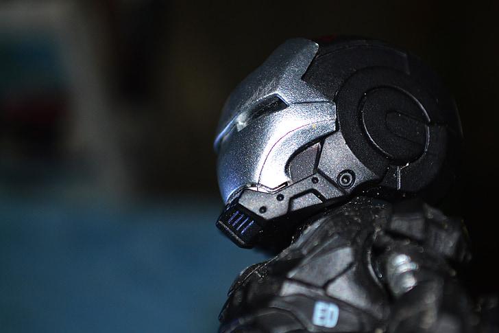 superhero, super, hero, iron man, black suit, battle suit, war machine