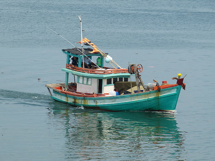 Vietnam, Phu quoc, Portuària, Mar, embarcacions, Fischer, vaixell