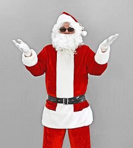 christmas, xmas, santa, nicholas, santa claus, sunglasses, holidays