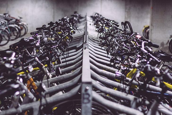Велосипеды, Велосипеды, велосипед стойки, в строке