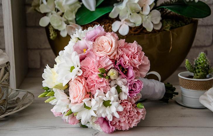 flores, ramo de la, composición, decoración, la ceremonia de, bautismo, ramo de flores