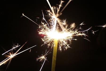 csillagszóró, tűzijáték, ünnepelni, július 4-én, Dom, felrobban, fél