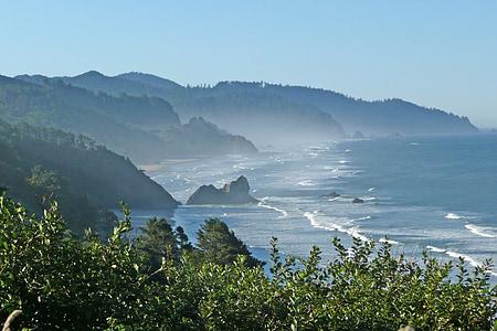 rannikul, Shoreline, Oregon, Ameerika Ühendriigid, Vista, Vaade, Beach