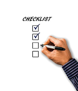 Контрольний список, Список, Рука, перо, бізнес, написання, Реєстрація