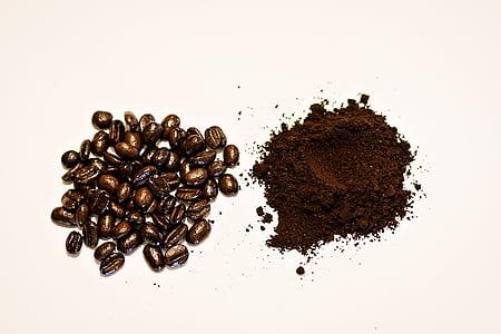 καφέ, φασόλια, άλεσμα, αλέθει, καφέ, καφέ - ποτό, καβουρδισμένο καφέ bean