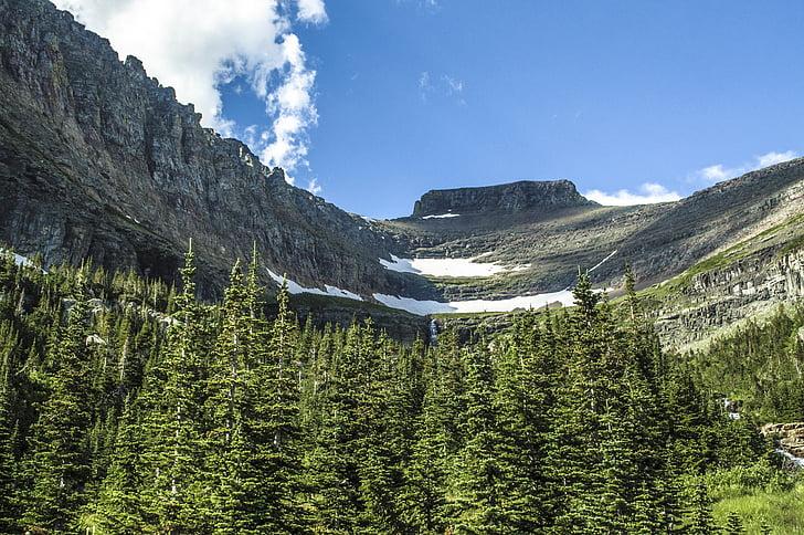 Glacera del parc nacional, paisatge, Nacional, natura, muntanya, Parc, Montana