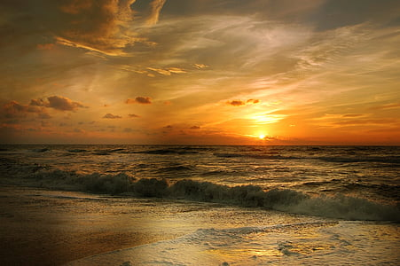 poplav, Beach, morje, val, obala, vode, počitnice