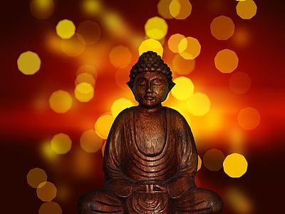 Buddha, Buddhismus, socha, náboženství, Asie, duchovní, meditace