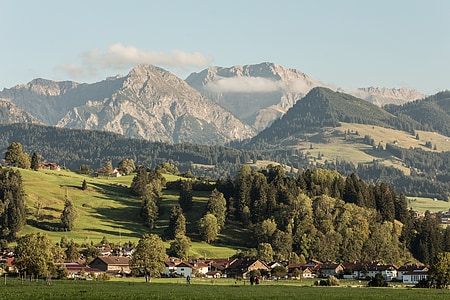 alpine, mountains, landscape, mountain landscape, mountain meadow, allgäu, allgäu alps