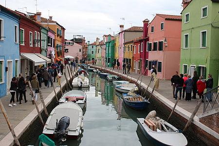 บ้าน, ช่อง, burano, เวนิส, เวเนโต, อิตาลี, การท่องเที่ยว