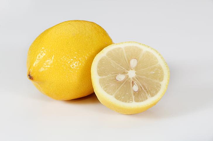 llimona, fruita, vegetals, llesca, cítrics, groc, alimentació saludable