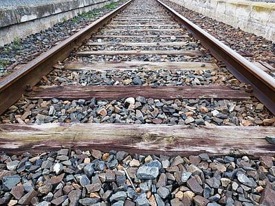 via, sliprar, järnväg, järnväg, ballast, järnvägsspåren