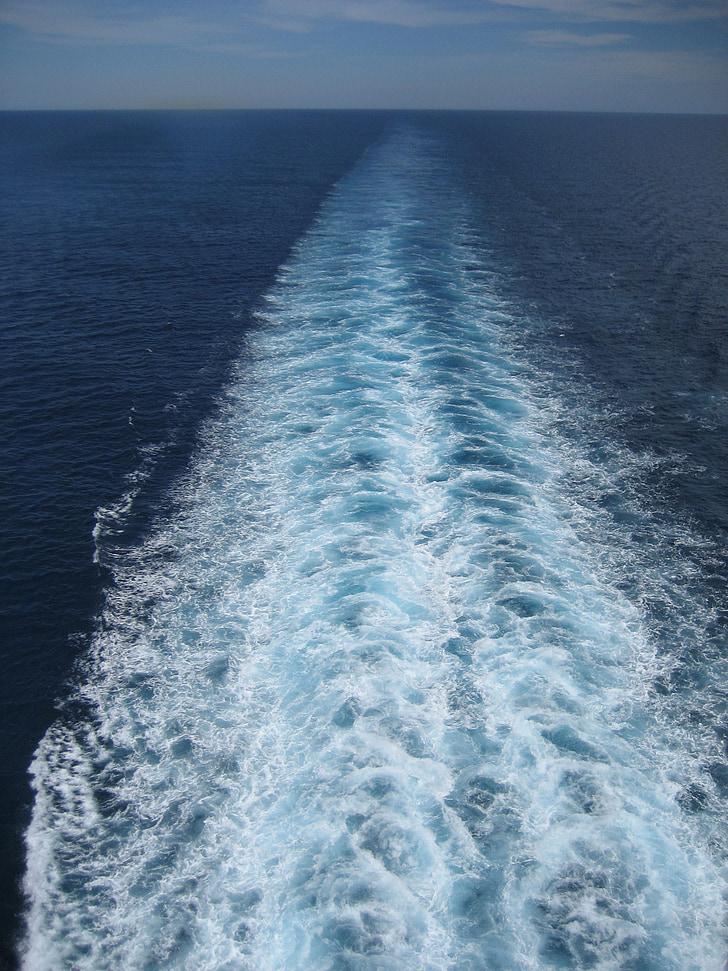 havet, fartyg, Boot, Yacht, drivande kryssningsfartyg, Ocean