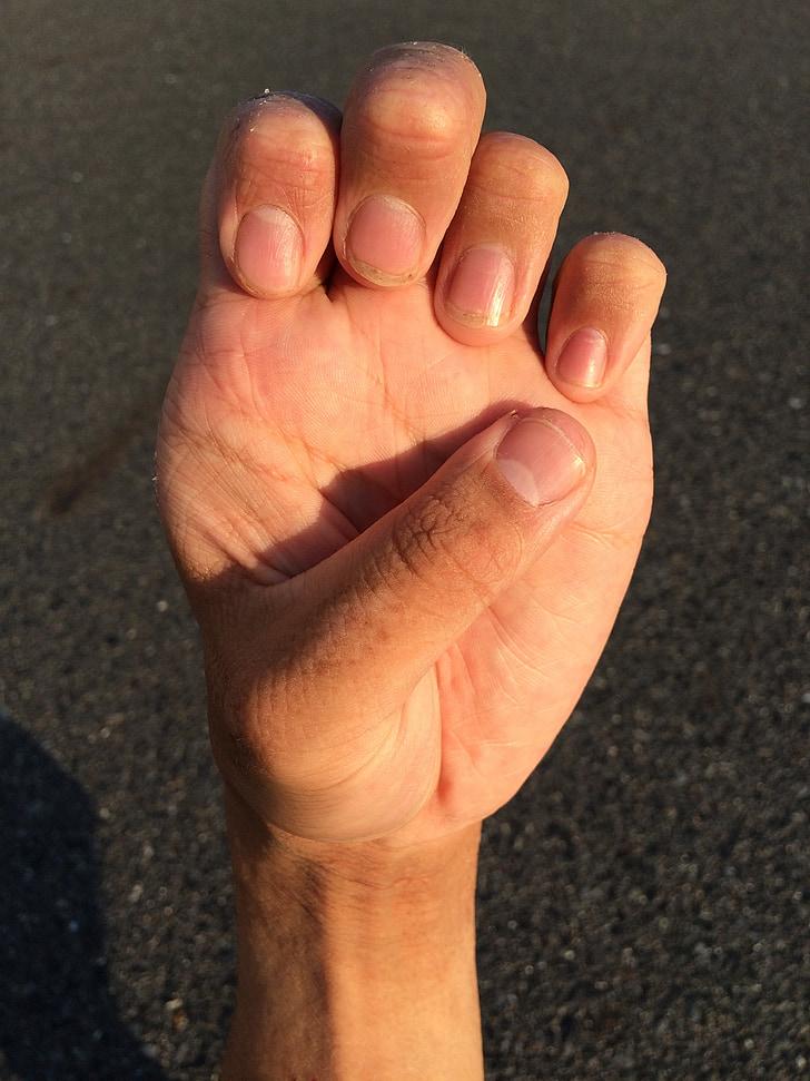 hand, nagel, pols, man, Palm, jonge, Japans