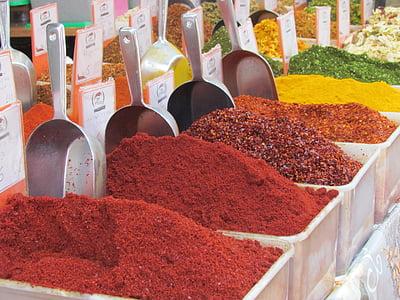 espècies, mercat, basar, Jerusalem, aliments, espècies, Orgànica