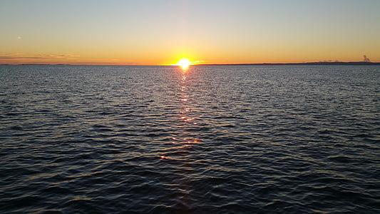 soluppgång, havet, Ocean, morgon