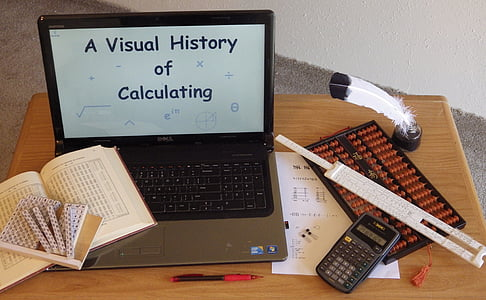 Abacus, räknesticka, dator, Kalkylatorn, Napiers stavar, Napier's ben, Quill