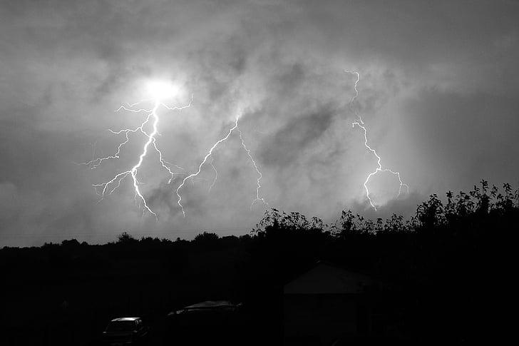 Шторм, молния, Темный, Облачный покров, Облако
