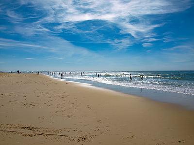 beach, ocean, sand, sea, wave, atlantic ocean, scum