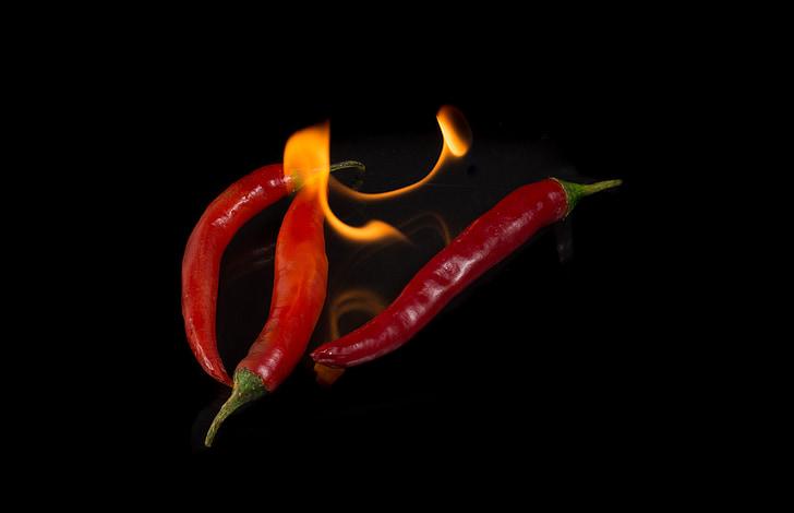 tulekahju, tšilli, paprika, toidu, Sharp, punane