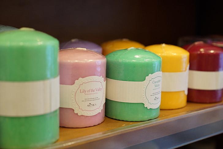 žvakė, spalva, Smilkalai, Aromaterapija, Antrasis, vitrinos