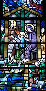 venster, kerk venster, kerk, Gebrandschilderd glas, Glasraam, kunst, Bijbel
