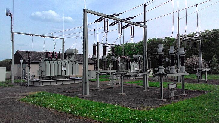 actual, línia, subestació, línia de poder, electricitat, Direcció actual, tecnologia