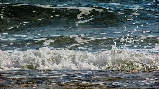 ona, bombolles, gotes, escuma, esprai, energia, l'aigua
