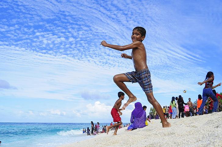 atol, platja, parella, destinació, vacances, Lluna de mel, illa