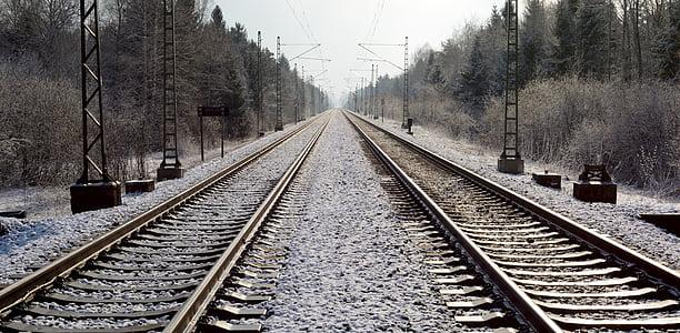 railway rails, seemed, gleise, train, transport, logistics, rail traffic