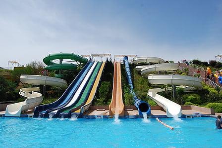 Aqua park, Marmaris, bilder, pool, vatten, Splash, kul