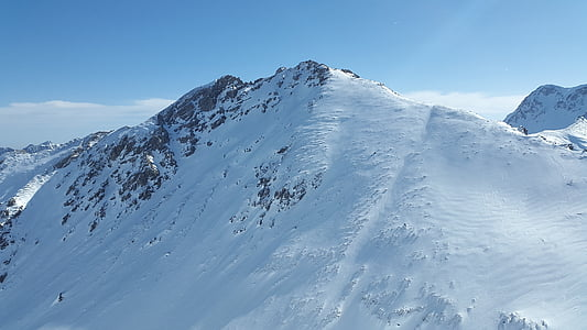 ponten, góry Tannheimer, Alpinizm, zimowe, góry, Tyrol, Allgäu