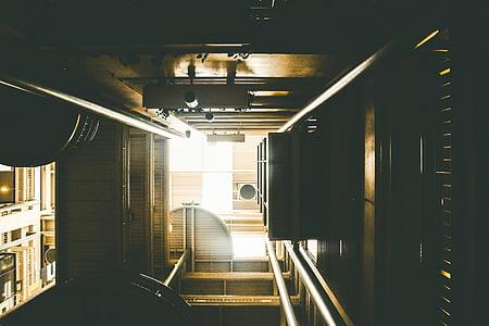 hoonete, struktuur, arhitektuur, disain, mustrid, perspektiivi, kaasaegne