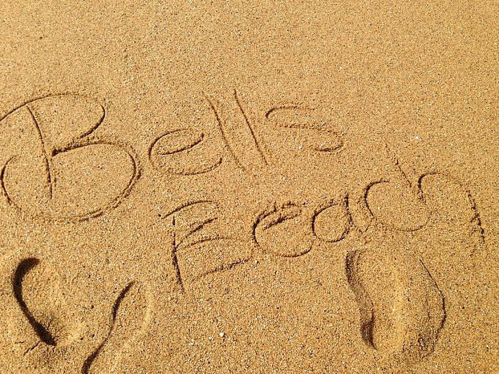 pludmale, smilts, Bells beach, Viktorija, Austrālija