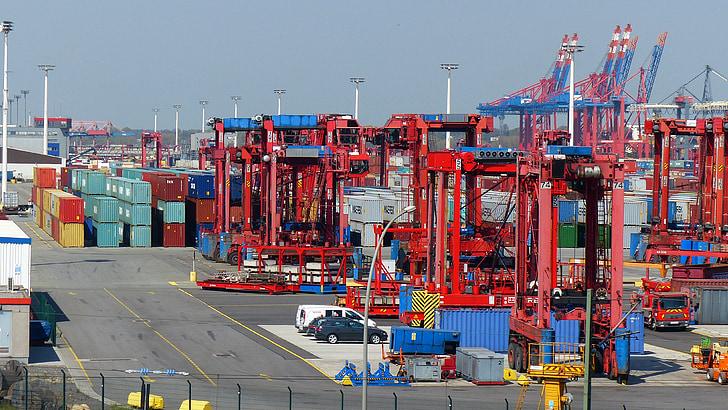 集装箱升降机, 集装箱, 端口, 集装箱平台, 提高, 货物运输