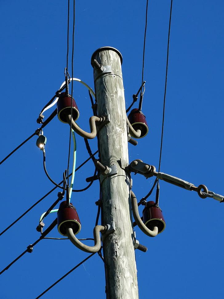 strommast, Direcció actual, mercat d'electricitat, actual, cable, electricitat, línia de poder