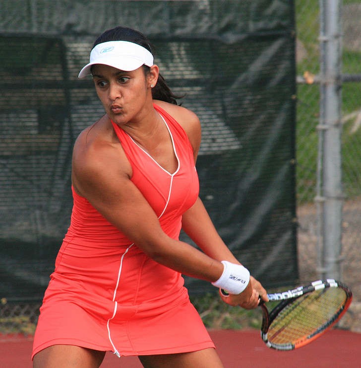 tennis player, woman, racket, sport, return, court, lifestyle
