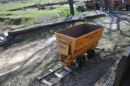 Gold cart, gruvan vagnen, vagn, Mine, guld, Vintage, historiska