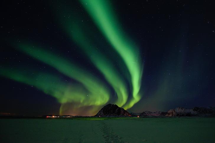 Thiên nhiên, cảnh quan, dãy núi, miền bắc, đèn chiếu sáng, màu xanh lá cây, bầu trời