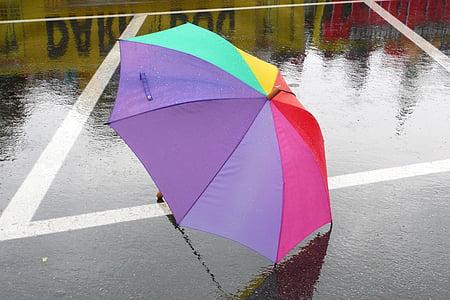 umbrella, weather, rainy summer, rain, wet