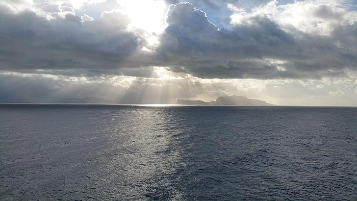 클라우드, 태양, 바다