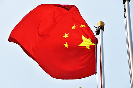 de chinese nationale vlag, vlag, China, rood, banner, m